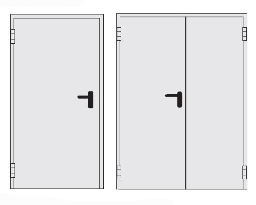 Технические двери отличаются специфической конструкцией и отделкой.